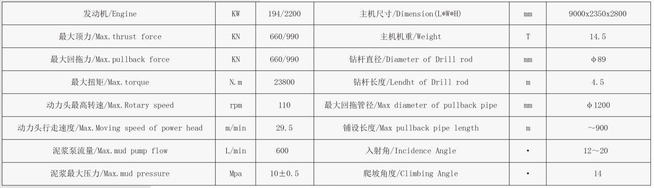DL660水平定向钻机